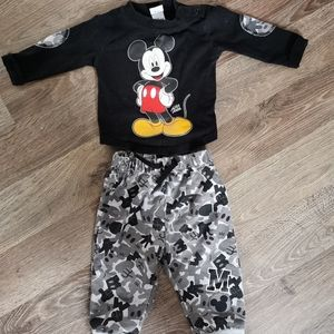 Disney Mickey Mouse outfit baby 3m